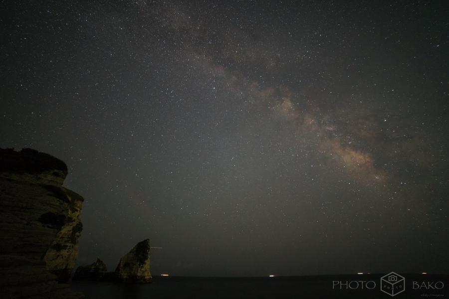 【作例写真】α7RiiとSAMYANG 14mm F2.8で撮る星空撮影「千葉県 大波月海岸の天の川」